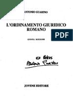 Lordinamento Giuridico Romano v Edizione