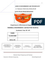 THERMAL ENGINEERING  LAB MANUAL PDF