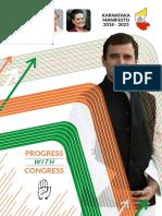 Congress Karnataka Manifesto 2018