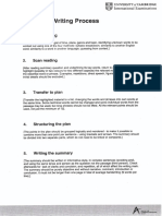 Summary Writing Structure