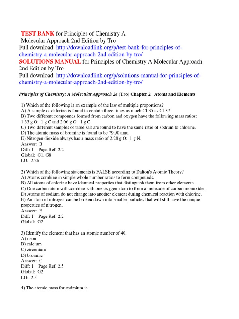 test bank for principles of chemistry a molecular approach 2nd rh scribd com
