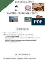 Materiales Prefabicados