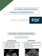 Examenes Complementarios – Manejo Sindromico