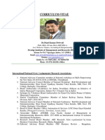 CV- Dr.Punit Kumar Dwivedi , Faculty- Entrepreneurship, Finance