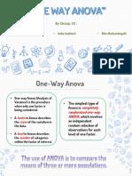 Group 10 - One Way Anova