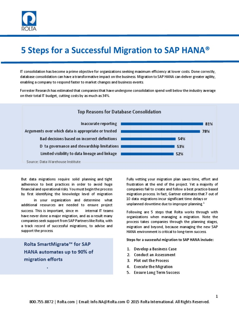 Successful Migration | SAP SE | Basis data