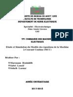 TP1 Commande Des Machines Electrique Simulation de MCC