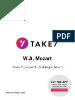 Take7 Mozart Violin Concerto No 3 Mov 1 Score and Parts