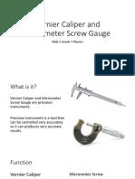Vernier Caliper and Micrometer Screw Gauge Slide 5
