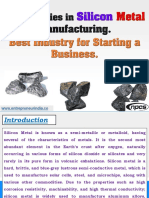 Opportunities in Silicon Metal Manufacturing.