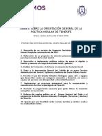 Debate Estado Isla Tenerife 2018, Propuestas Resolución Podemos Tenerife (Pleno Cabildo 27 abril 2018)