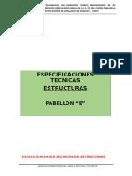 Especificaciones Técnicas Estructuras- Pab e