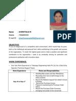 ShwethaBR CV 29-3-2018