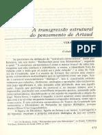 A Transgressão Estrutural No Pensamento de Artaud - Vera Lúcia Felicio