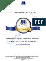 Coca Cola Market Research Assignment In UAE - Tutors India