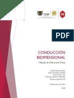 Conducción Bidimensional Diferencias Finitas