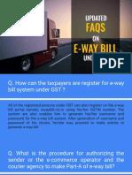 E-way Bill Updated Faqs