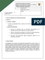 Practica de Laboratorio Propiedades de Los Derivados Del Petroleo 2017