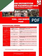CRONOGRAMA Juegos Deportivos Escolares Nacionales 2018 Acabado