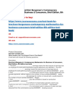 Test Bank for Brechner Bergeman's Contemporary Mathematics for Business & Consumers, Brief Edition, 8th Edition Test Bank