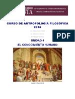 u4 Curso de Antropología Filosófica 2016 El Conocimiento Humano
