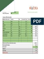 Calcul Coût de Revient Excel Gratuit 1