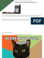 """Los Distintos Modos de """"Restauración de...Ica"""" de Windows 10 - El Androide Feliz"""