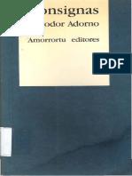 ADORNO, Theodor W._consignas
