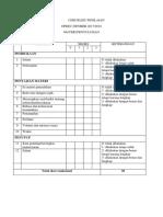 Checklist Penilaian