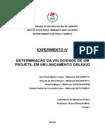 Relatório 4 - Determinação Da Velocidade de Um Projétil