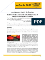 AG 1001 Application Guide 1001 Accelerated Shelf Life Testing