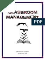 classroom management plan