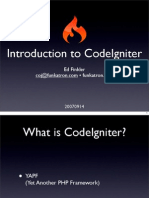 EdFinkler-Introduction to CodeIgniter