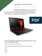 Pc Portable Gaming Lenovo Legion y520 i5 80wk00atfg