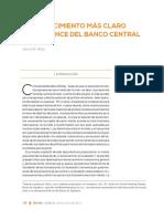 Un Conocimiento Más Claro Del Balance Del Banco Central