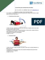Plano de exercícios para osteoartrose do ombro
