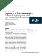 La ciudad en su dimensión simbólica- Claudia A. Montoro.pdf