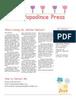 newsletter 4-13-18