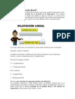 Teoría y ejercicios resueltos de dilatación lineal
