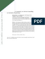 Effect of Interface Geometry on Electron Tunnelling in Al-Al2O3-Al Junctions
