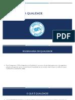Engenharia Da Qualidade - Características da Qualidade