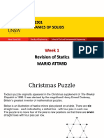 CVEN2301 Week 1 Revision of Statics 2016