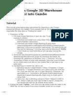 Importing a Google 3D Warehouse Model (.Skp) Into Gazebo