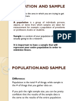 Population and Sample in the Research