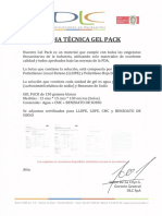Nueva Ficha Técnica Gel Pack 150 Grs. (Dlc Spa)