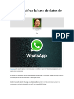 Cómo Descifrar La Base de Datos de Whatsapp