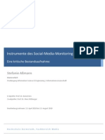 Instrumente des Social Media Monitoring