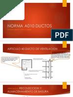 Norma a010 Ductos