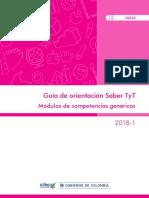 Guia de Orientacion Modulos de Competencias Genericas Saber Tyt 2018 1