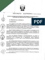 REGLAMENTO DE ORGANIZACIÓN Y FUNCIONES DEL MINISTERIO DE LA PRODUCCIÓN.pdf